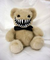 Light Brown Smiling Teddy Monster by RebeccaStefun