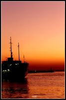 Ship, Sunset and Istanbul by sinanrby