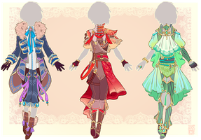 :Adopts: Outfits : CLOSED : by MMtheMayo