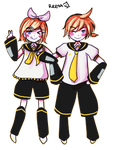 Free PageDoll- Kagamine Rin Len by ReenaCat