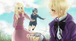 Request_ Sophie x Ciel and Alois by maito14