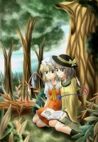 Touhou-just us,reading- by K-Nashi