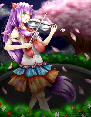 COMMISSION: Blooming Melody by CeciliaRinChan