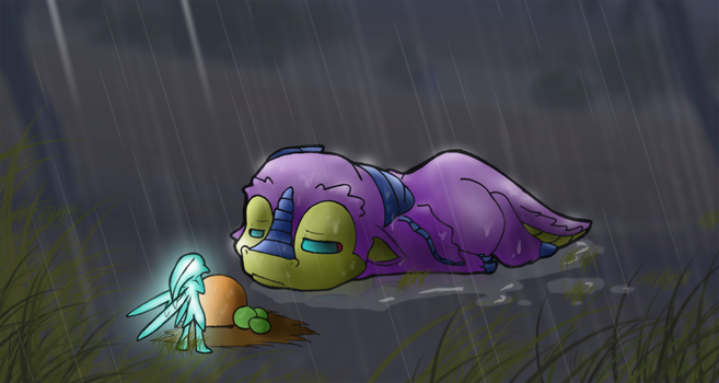 baby dragon lost by Almiux19