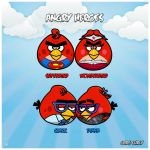 Superman and Wonder Woman - Angry Birds Style by GabeCurly