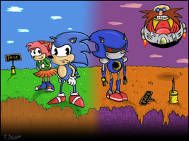 Sonic CD 2011 Contest Entry by Flashpole