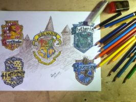 Hogwarts Coat of Arms by amandaolbel
