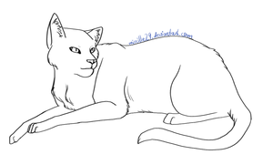 Cat Lineart 12 by Aira90