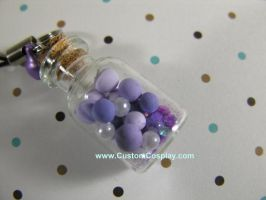 Purple pastel bottle charm by The-Cute-Storm