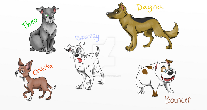 Purebred Puppers (CLOSED) by shudderwings