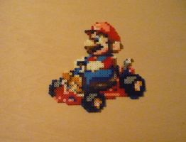 Mario Kart Super Circuit Bead Sprite by monochrome-GS