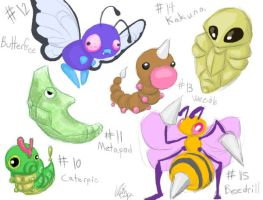 Pokemonathon: 10-15 -EW, BUGS- by ThermalFaerie