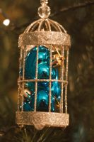 Gold birdcage ornament stock by Sassy-Stock