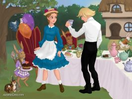 Sophie and Howl teaparty by WaterLily-Gems