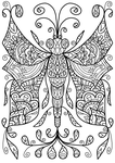 Free Colouring Page - Dragonfly Thing by WelshPixie