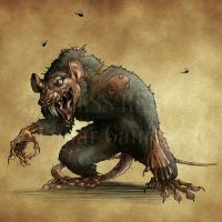Endless Realms bestiary - Giant Rat by jocarra