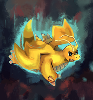 Dragonite Rage by LizardonEievui13