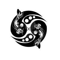 Tribal Pisces Koi Design by ShadowKira