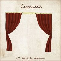 3D Curtains by zememz