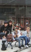 SHINee: Photo Shoot by waterbirdART