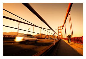 Golden Gate Cyclist by GVA