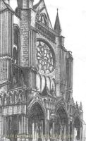 Chartres sketch by pamplemouuse