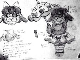 FNaF: Persona FC thing - Concept sketches by XxMoonlight-1-WishxX