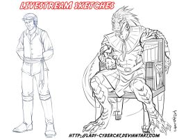 June Livestream Commission F by lady-cybercat