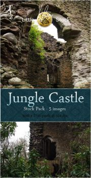 Jungle Castle Stock pack by little-stock