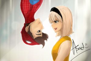 Spiderman and Gwen Stacy by faruuk-sama