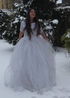 White dress in Snow Stock 5 by NaomiFan