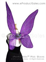 Halloween PIXIE QUEENE Iridescent fairy Wings by eProductSales