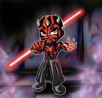 Chibi Darth Maul by Evolvana