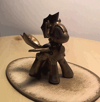 Bat-pony statue (spin gif) by fatalerror328