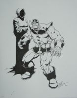 Thanos and Death by Hanger-18-shirts