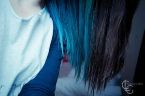 Blue hair, my love by ClaraLG
