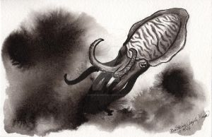 Cuttlefish Inktober 2014-Day 3 by OneForWhimsy