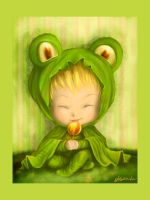 Froggy hood by Adelaida
