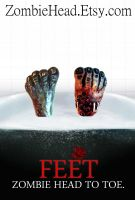 Feet. Zombie Head to Toe by GutterJim