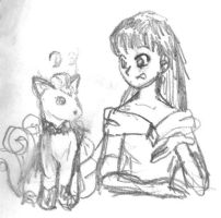 Sailor Mars and a Vulpix by jameson9101322