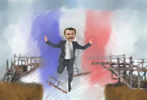 Emmanuel Macron looking for support for the center by MarcusWise
