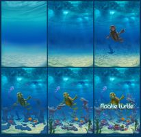 Floatie Turtle steps by Azot2016