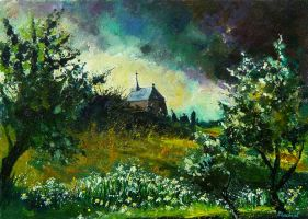 old chapel in houroy by pledent