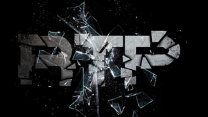 Glass shatter text wallpaper giveaway by EXtreme-S