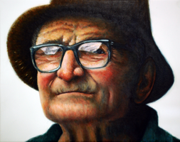 School art, old man by mel-da-cat