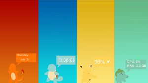 PokeMod Rainmeter theme by dyronl
