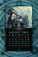Calendar Mobile #3: January 2015 by Holyknight3000