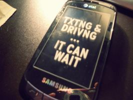 Txting and Driving can wait by RuokDbz98