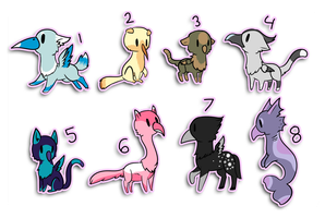 Mini Gryphon Adopts by starryraindrops