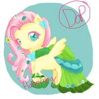 Fluttershy Gala by dapple-pie
